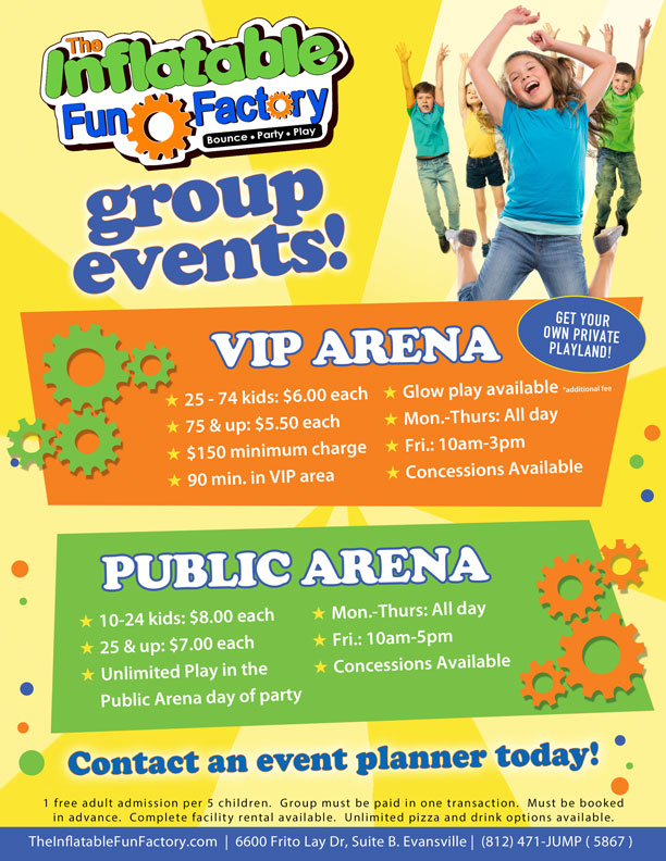 Group Events at The Inflatable Fun Factory