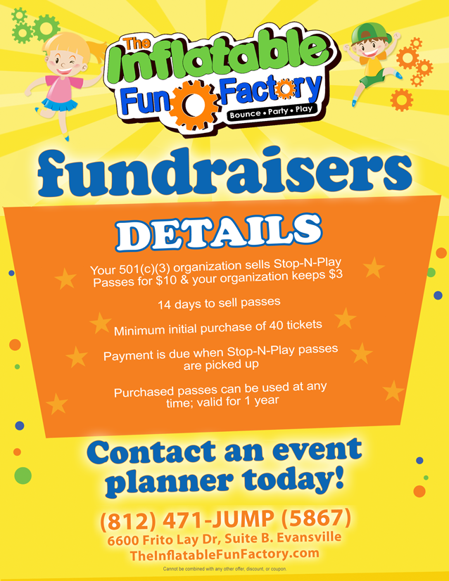 Fundraisers at The Inflatable Fun Factory